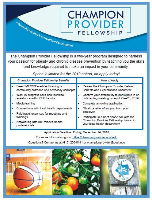 San Francisco Medical Society Blog   Champion Provider Fellowship